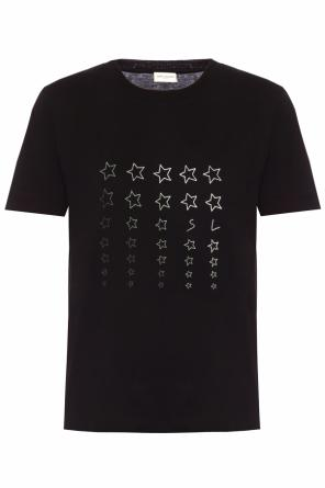 T-shirt with a print od Saint Laurent