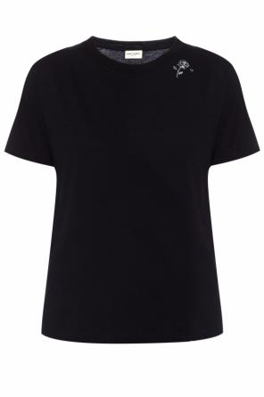 T-shirt z logo od Saint Laurent