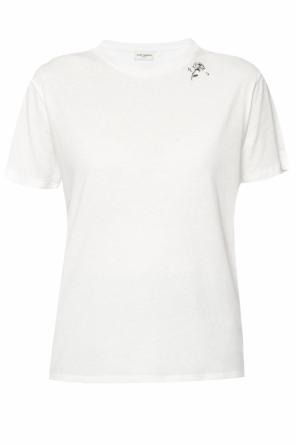 T-shirt with a logo od Saint Laurent