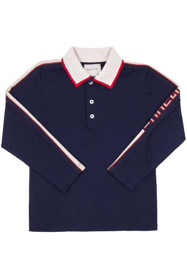 Gucci Kids Polo with an embroidered logo