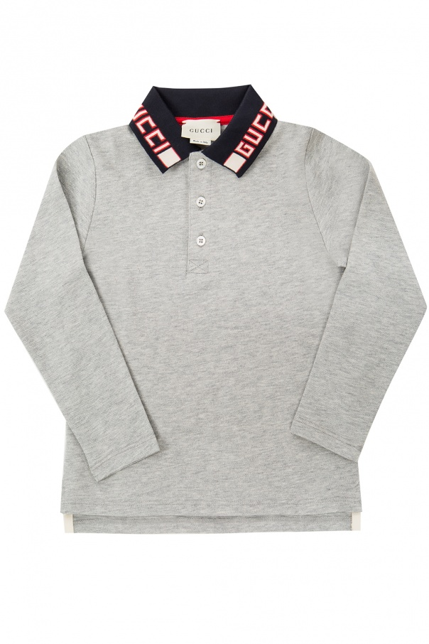 Gucci Kids Long sleeve polo shirt