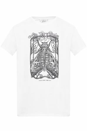 Logo-embroidered t-shirt od Alexander McQueen