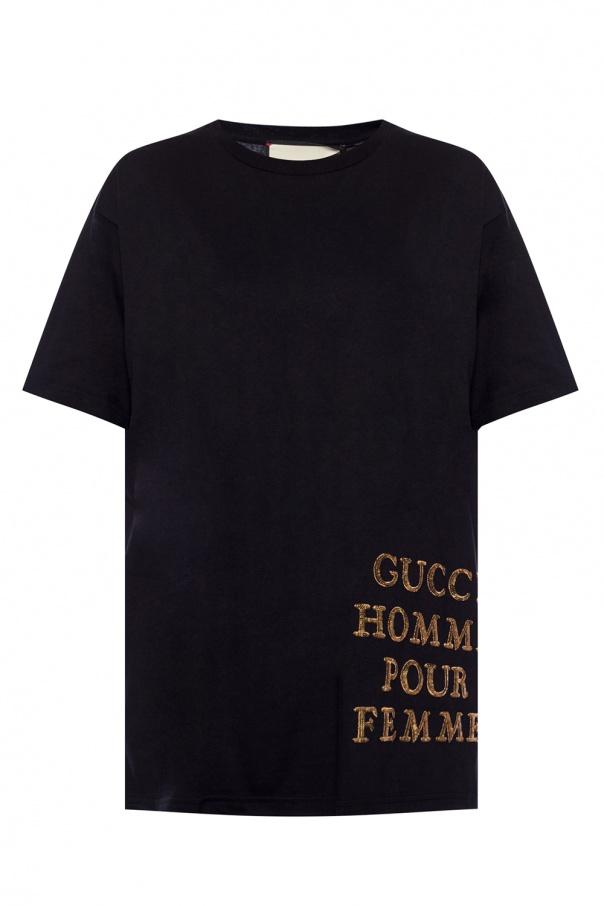 806ba8ecdef Logo-appliquéd T-shirt Gucci - Vitkac shop online