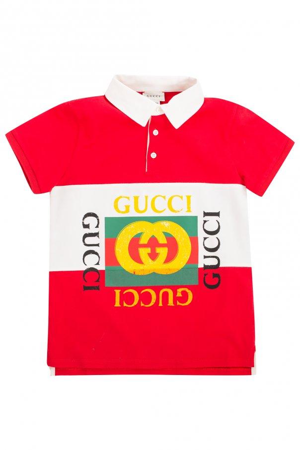 Gucci Kids Logo-printed polo shirt