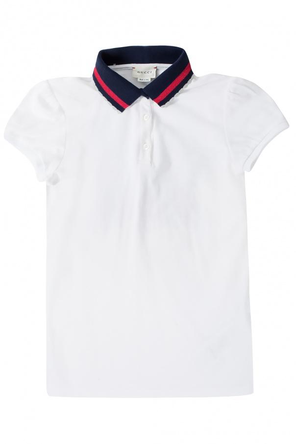 f6a3575f35f Logo-appliquéd polo Gucci Kids - Vitkac shop online