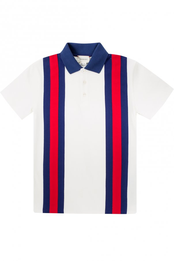 a05c60609 Polo shirt with 'Web' stripes Gucci Kids - Vitkac shop online