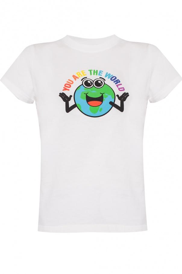 df7e636a729e T-shirt with raised print Balenciaga - Vitkac shop online