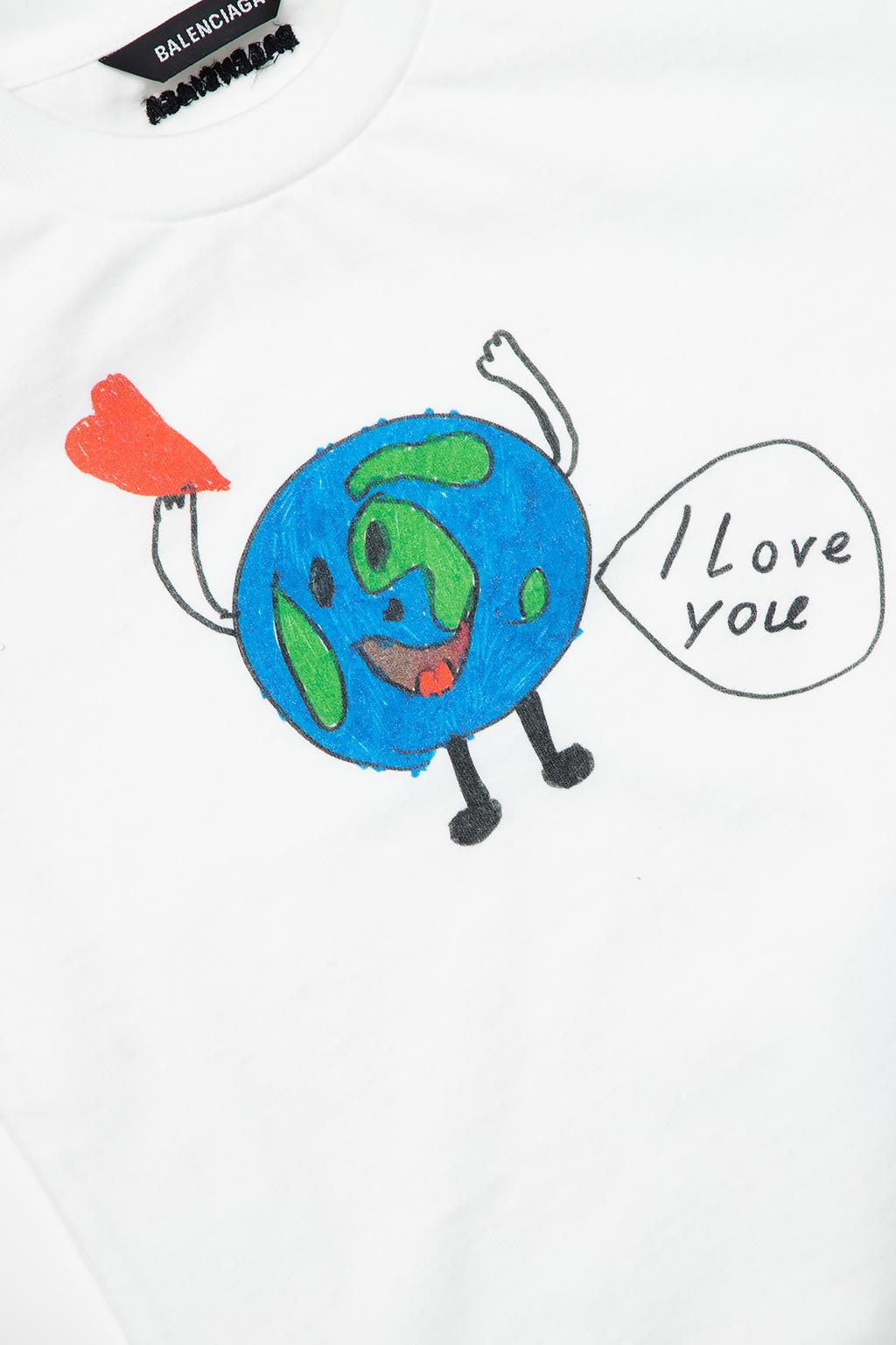 Balenciaga Kids Printed T-shirt