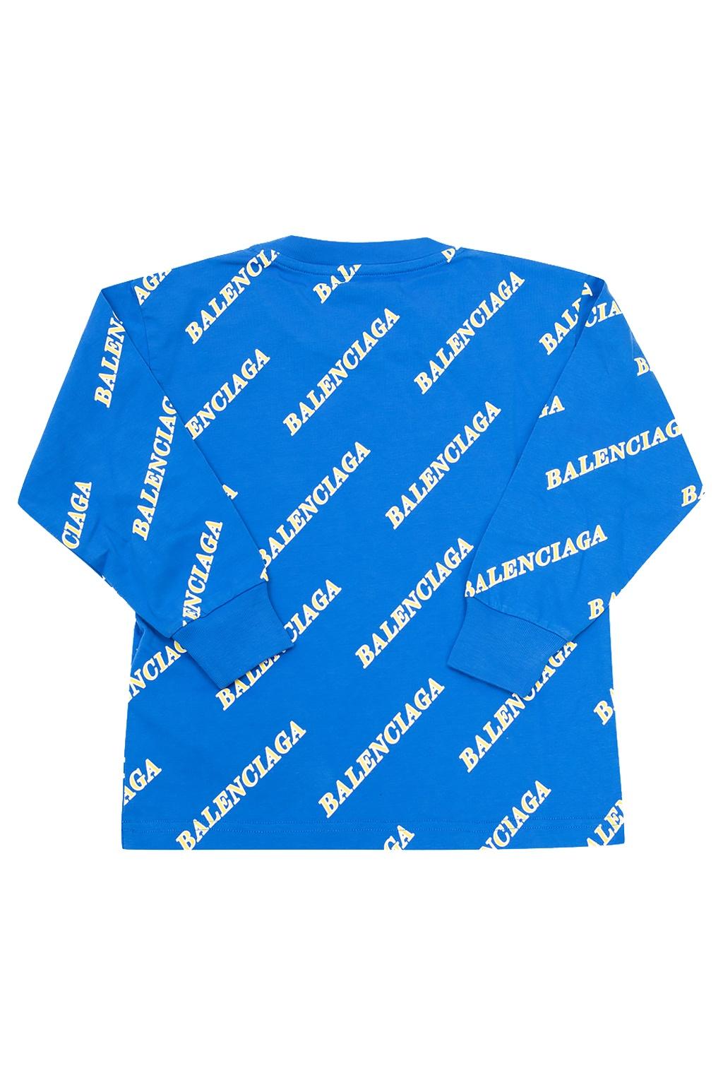 Balenciaga Kids Long-sleeved T-shirt with logo