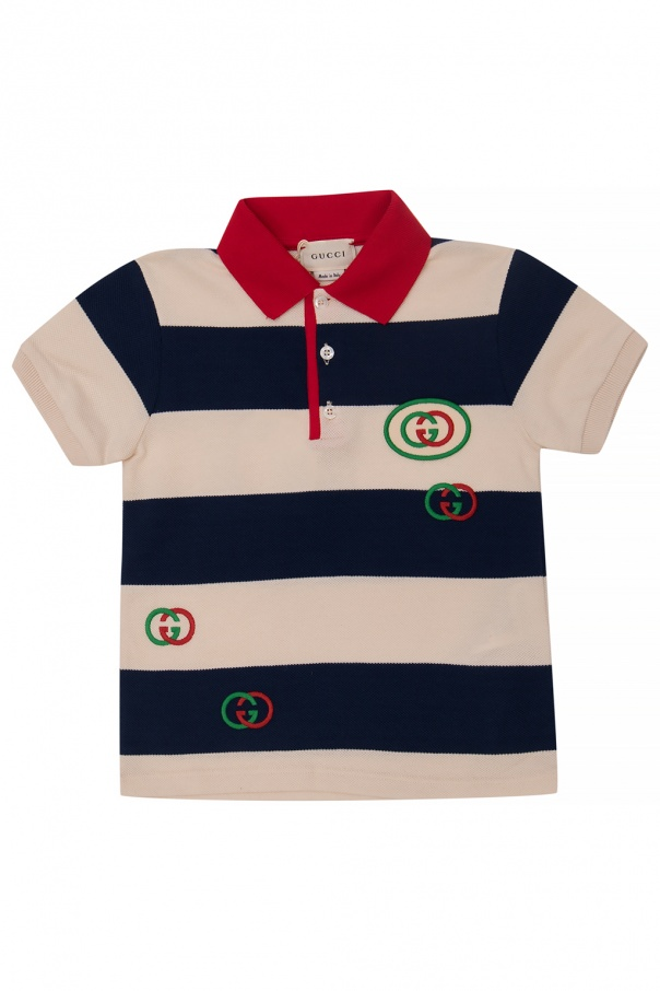 Gucci Kids Polo shirt with logo