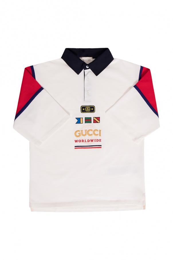 Gucci Kids Polo shirt with logo