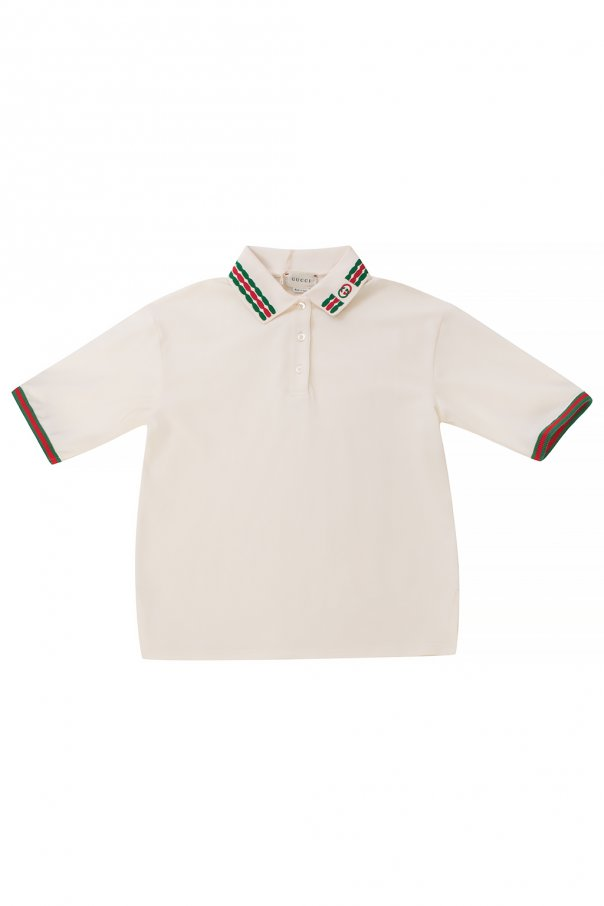 Gucci Kids 'Web' stripe polo