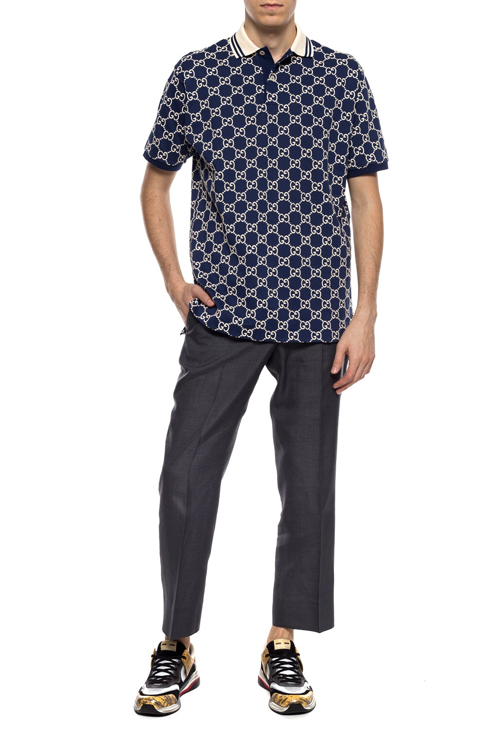Gucci Patterned polo