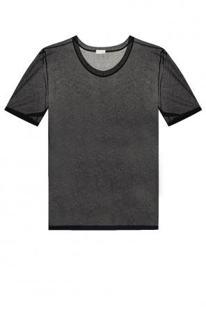 Transparentny t-shirt od Saint Laurent