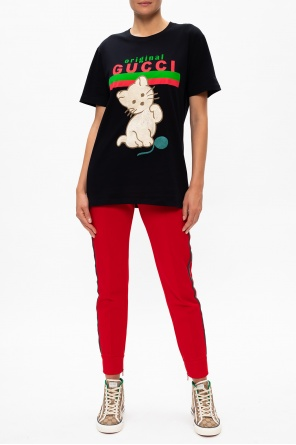 Oversize t-shirt with logo od Gucci