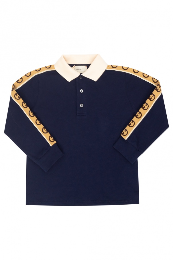 Gucci Kids Polo shirt with long sleeves