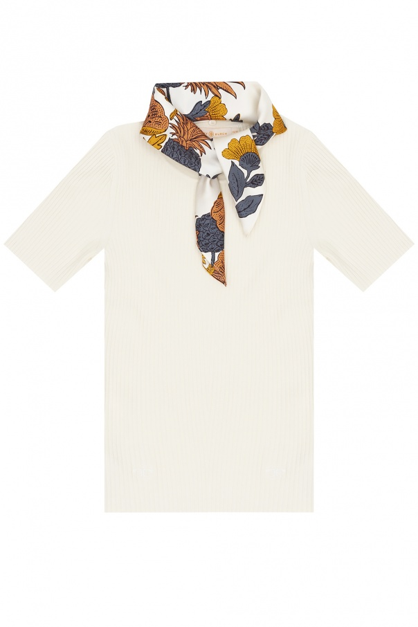 Tory Burch T-shirt with removable scarf
