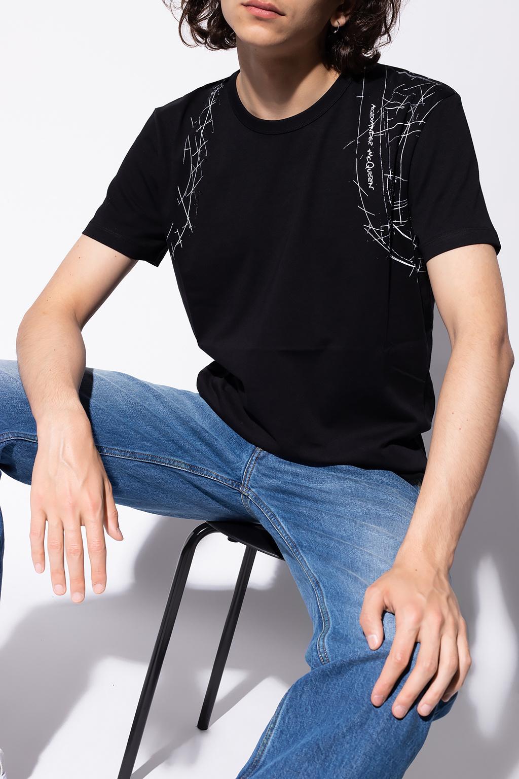 Alexander McQueen T-shirt z logo
