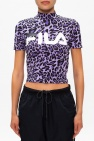 Fila Cropped T-shirt with band collar