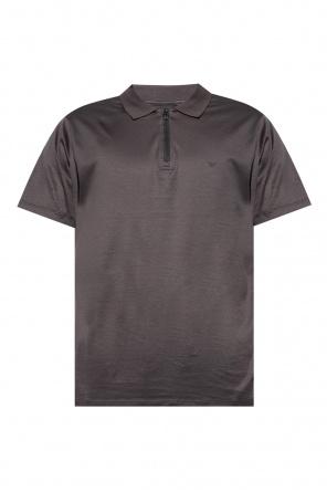 Polo shirt with tactile logo od Emporio Armani