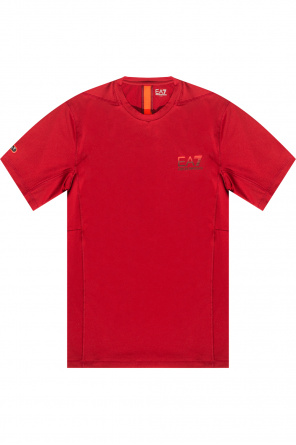 Training t-shirt with logo od EA7 Emporio Armani