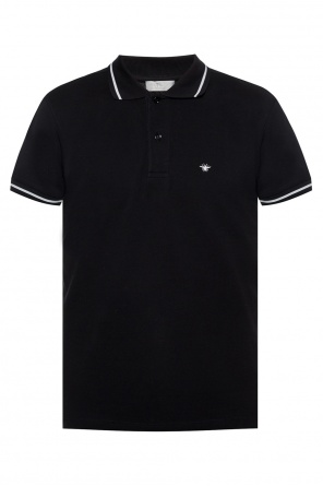 Bee motif polo shirt od Dior