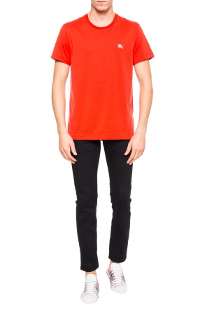 T-shirt with an embroidered pattern od Burberry