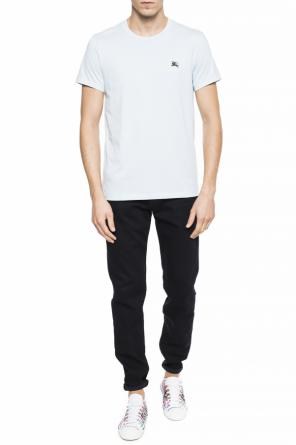 Logo-embroidered t-shirt od Burberry
