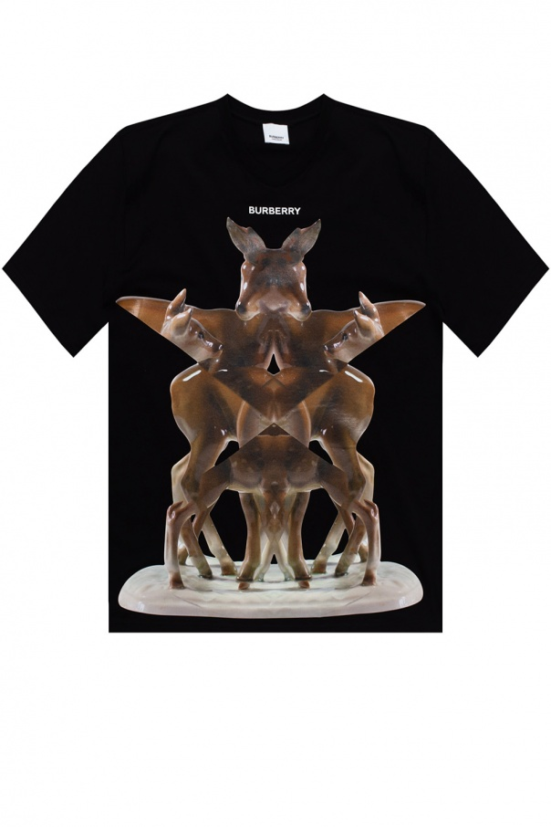 Burberry T-shirt with animal print