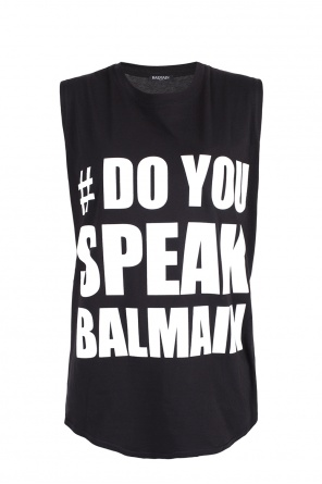 Printed top od Balmain