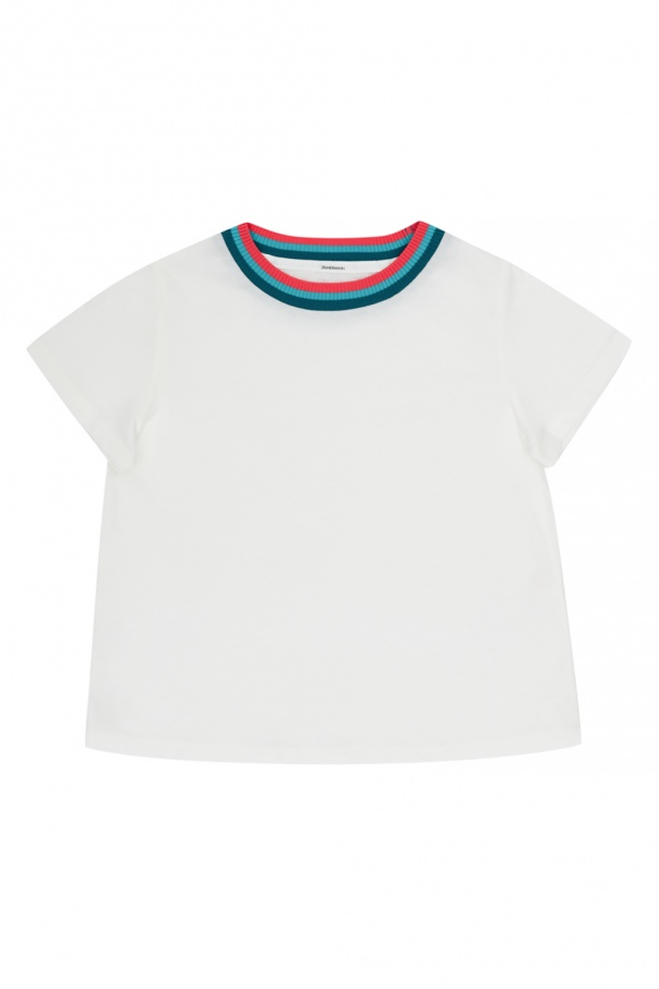 Zimmermann Kids T-shirt with rib neckline