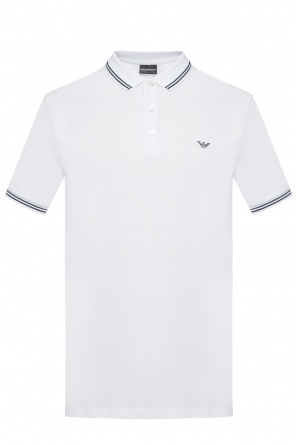 Polo with a printed logo od Emporio Armani