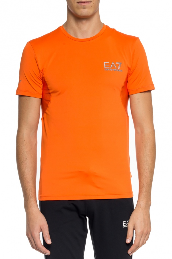 T-shirt with a print and a logo od EA7 Emporio Armani