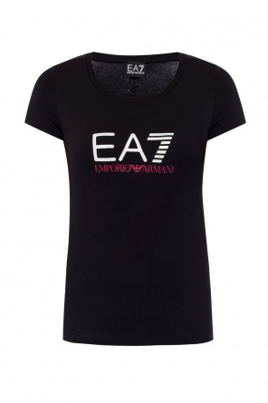 T-shirt z nadrukowanym logo od EA7 Emporio Armani
