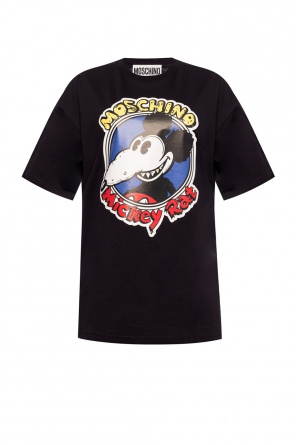'mickey rat' motif t-shirt od Moschino