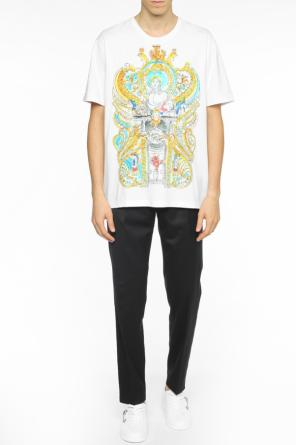 Embroidered t-shirt od Versace