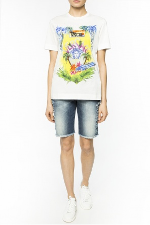 Patterned t-shirt with logo od Versace