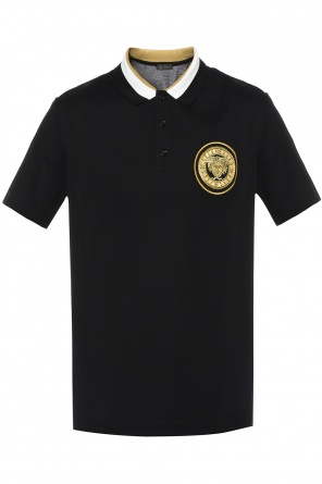 Embroidered medusa head polo od Versace