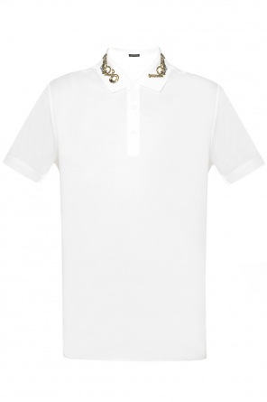 Polo with embroidered collar od Versace