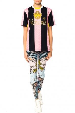 Logo-embroidered t-shirt od Versace