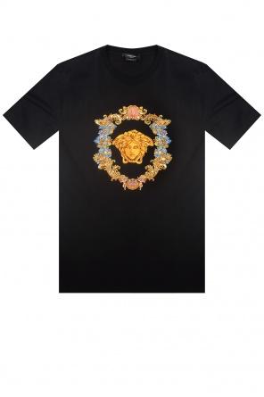 T-shirt z głową meduzy od Versace