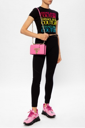 Cropped logo t-shirt od Versace Jeans Couture