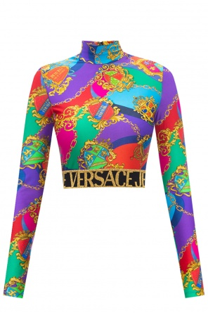 Patterned turtleneck sweater od Versace Jeans Couture