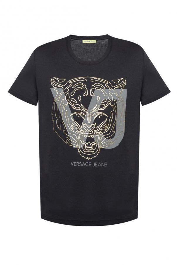 7db4eb6a T-shirt with motif of tiger head Versace Jeans - Vitkac shop online