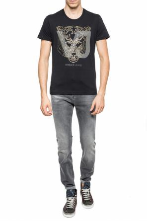 T-shirt with motif of tiger head od Versace Jeans