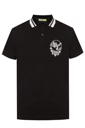Logo-embroidered polo shirt od Versace Jeans