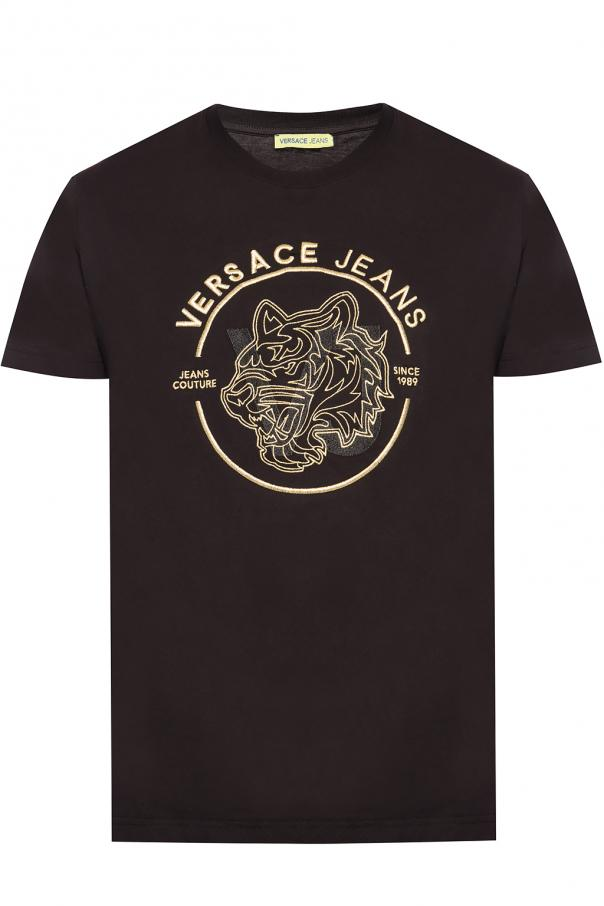 5724b434 Logo-embroidered T-shirt Versace Jeans - Vitkac shop online