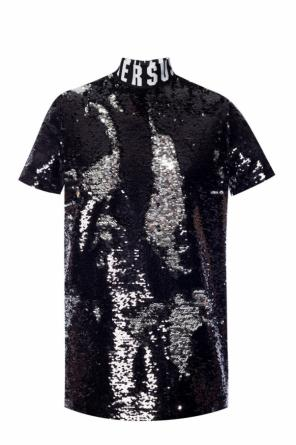 Sequinned top with logo od Versace Versus