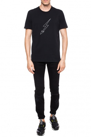 Raw-trimmed t-shirt od Givenchy