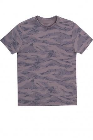 'brace' t-shirt with camo motif od AllSaints